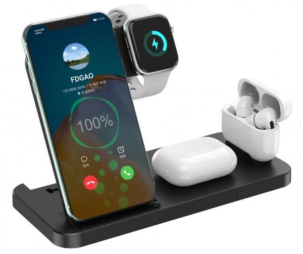 Wireless Ladestation 4in1