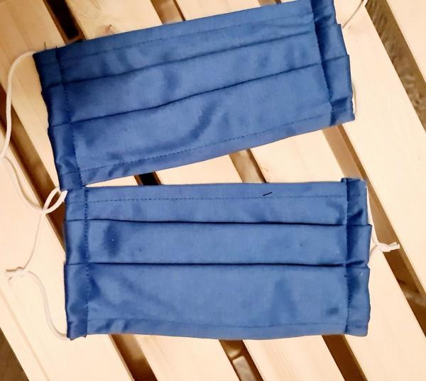 Mundschutz Stoffmaske 2er Set Blau