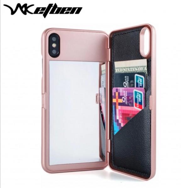 Flip Case Handyhülle Spiegel Rosa Iphone