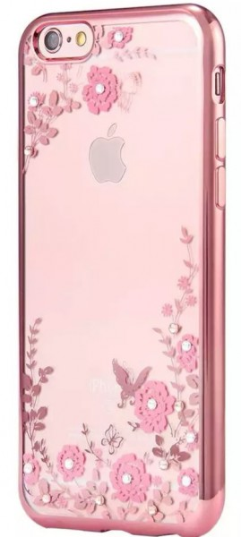 Kisscase - Silikon Handyhülle Blumen für Iphone