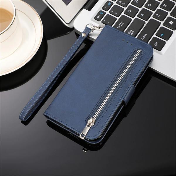 Handytasche Samsung Galaxy S21 Reihe mit Reissverschluss Blau