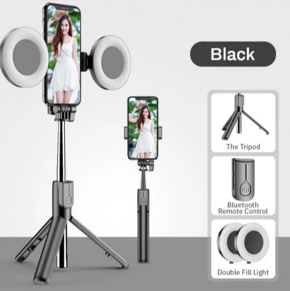 Selfie Stick/Stativ Bluetooth mit LED Lichter