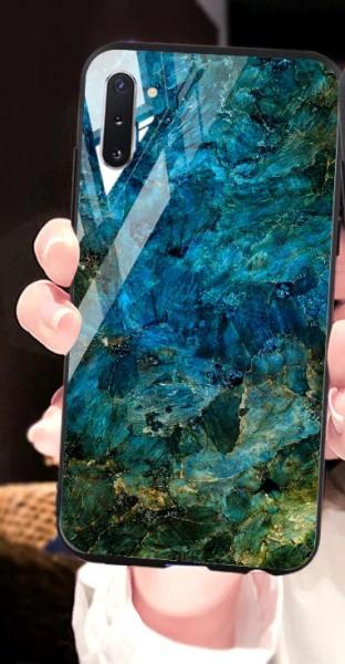 Image of Handyhülle Marmorlook Blau Samsung S20-Reihe