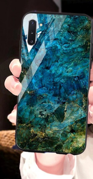 Handyhülle Marmorlook Blau Samsung S20-Reihe