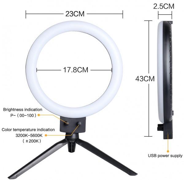 LED Selfie Lichtstativ