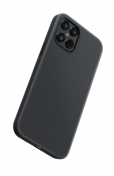 Handyhülle iPhone 12 mini Slim Flüssiges Silikon Schwarz