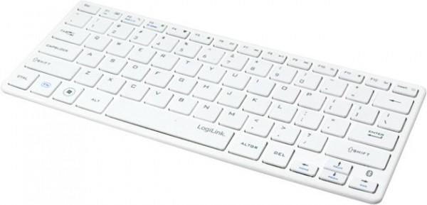 Logilink Bluetooth Slim Tastatur Weiss