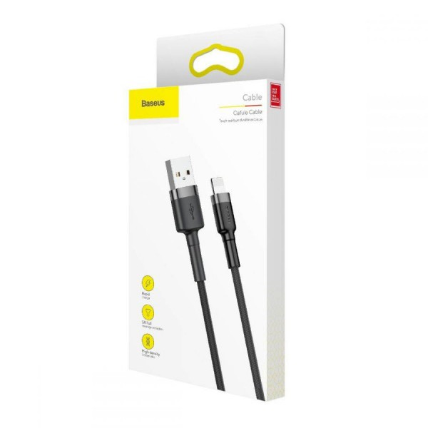 Baseus Lightning Ladekabel USB Schwarz