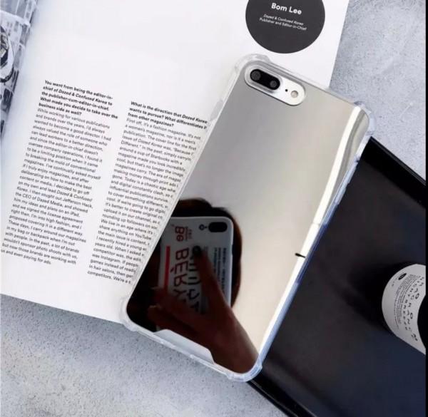 iphone hülle spiegel silber