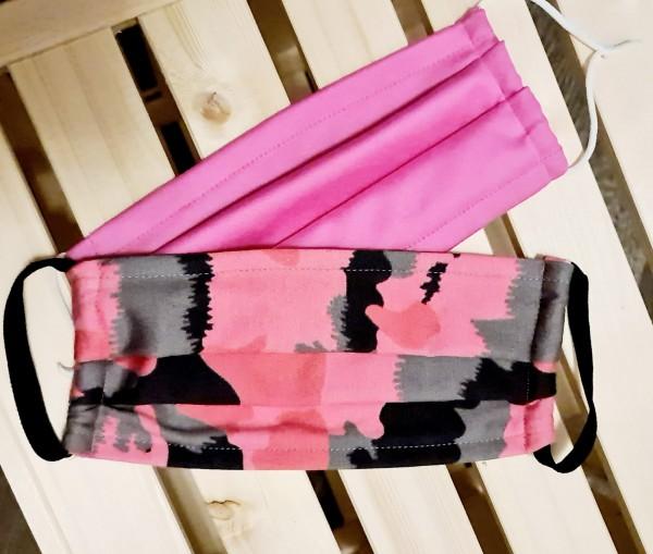 Mundschutz Stoffmaske Baumwolle 2er Set Pink