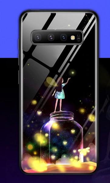 Leuchtende Handyhülle Mädchen Samsung S20 MOdellreihe