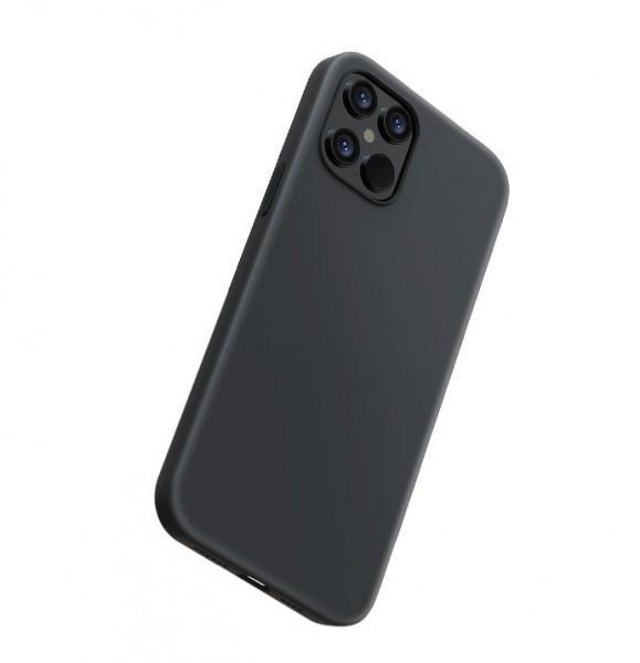Handyhülle iPhone 12 Pro Max Slim Flüssiges Silikon Schwarz