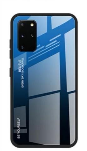 Image of Handyhülle Gradient Blau-Schwarz Samsung S20